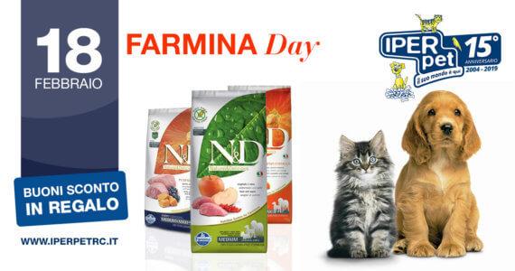 Al negozio per animali Iper Pet di Reggio Calabria il 18 febbraio ci sarà il farmina day
