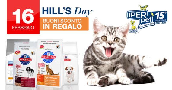 Al negozio per animali Iper Pet di Reggio Calabria il 16 Febbraio ci sarà l'Hill's Day