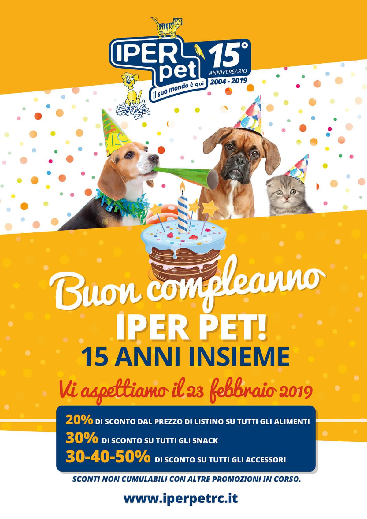 Festeggia con noi i 15 di Iper Pet il negozio per animali di Reggio Calabria con tanti sconti
