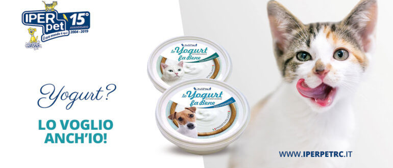 yogurt per cani e gatti da Iper Pet negozio per animali Reggio Calanbria