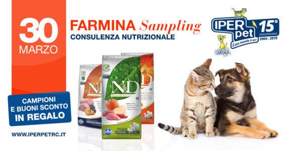 farmina sampling da iper pet negozio animali reggio calabria