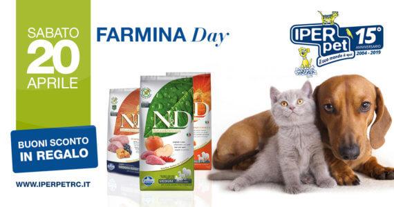 sabato 20 aprile giornata farmina da iper pet negozio di animali a Reggio Calabria