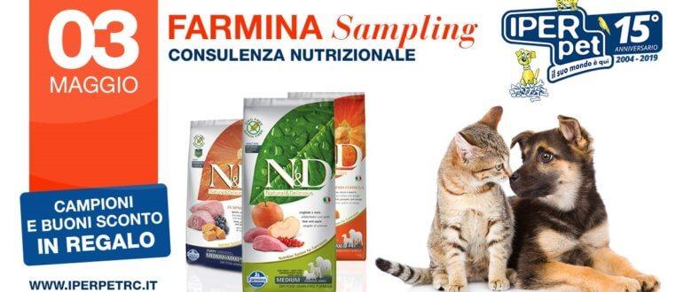 3 maggio farmina sampling negozio per animali iper pert reggio calabria