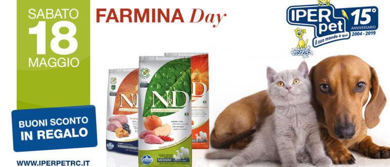 sabato 18 maggio farmina day da iper pet negozio per animali reggio calabria