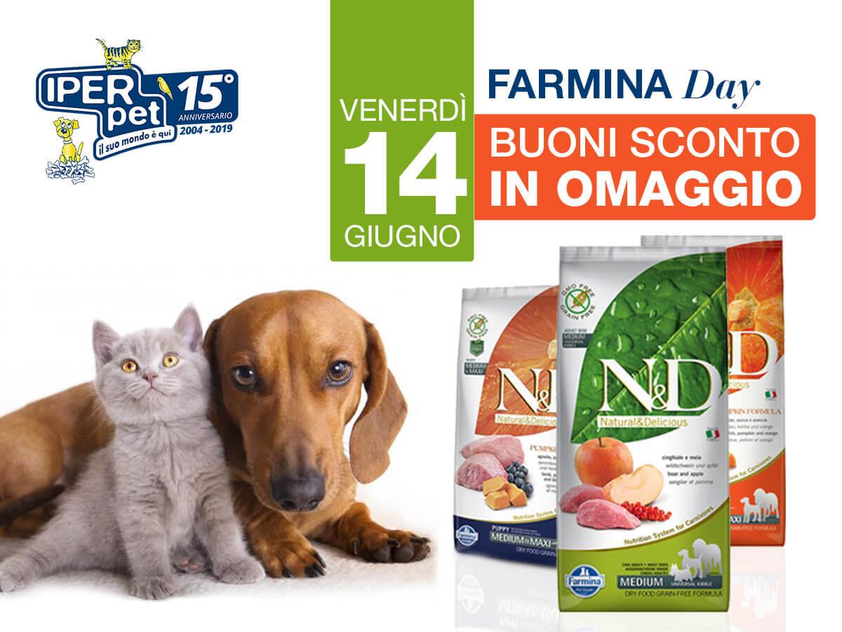 venerdì 14 giugno farmina day da iper pet negozio per animali reggio calabria