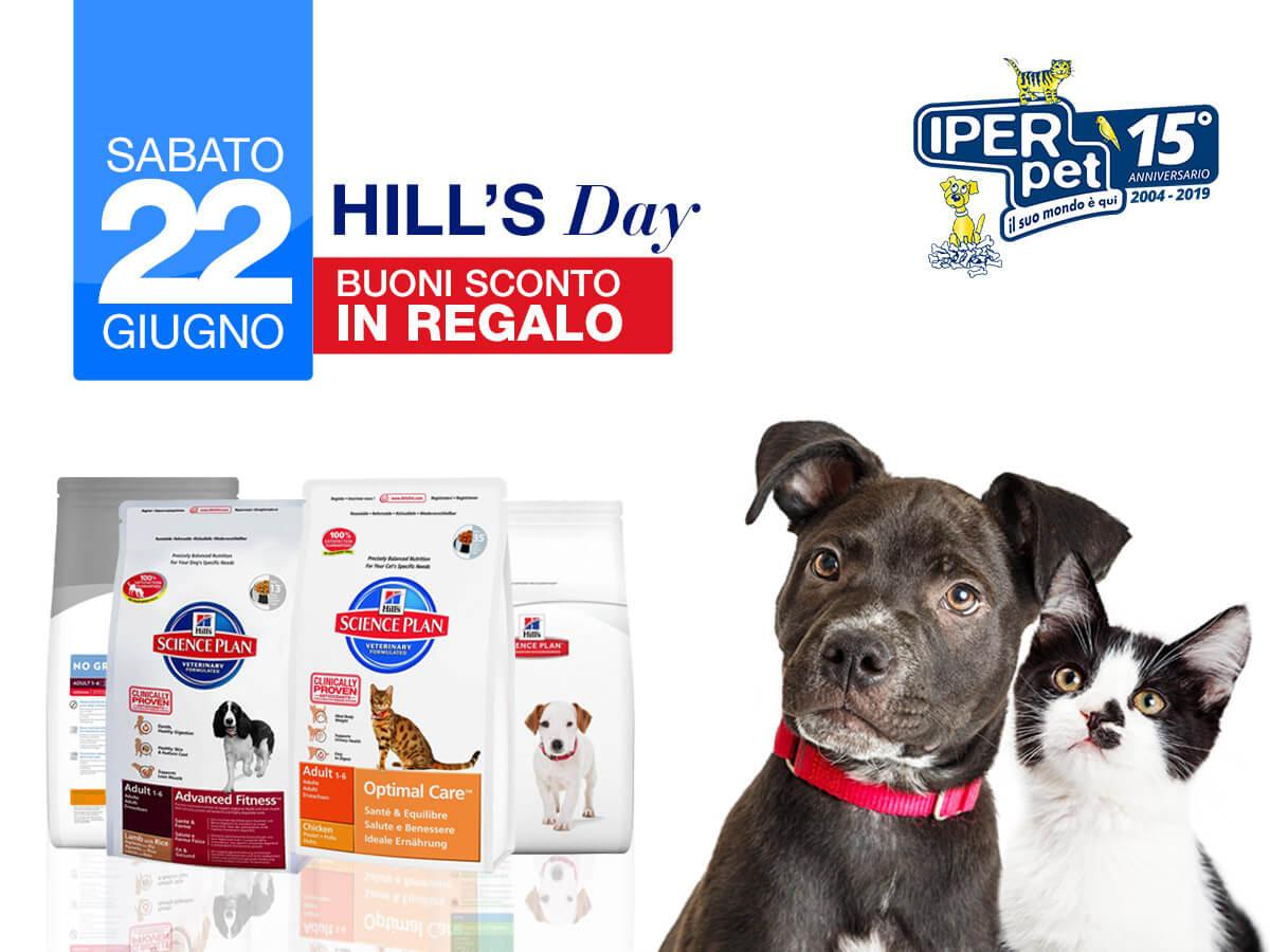 Sabato 22 Giugno Hill's Day da Iper Pet negozio per animali Reggio Calabria