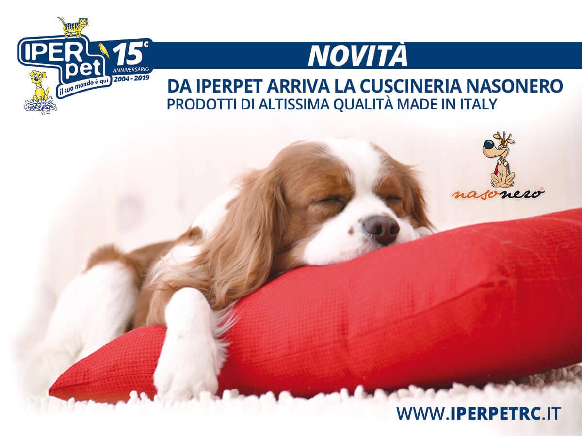 Da Iper Pet negozio per animali di Reggio Calabria arriva la cuscineria Nasonero