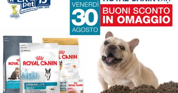 Venerdì 30 agosto giornata promozionale Royal Canin da Iper Pet negozio per animali reggio calabria