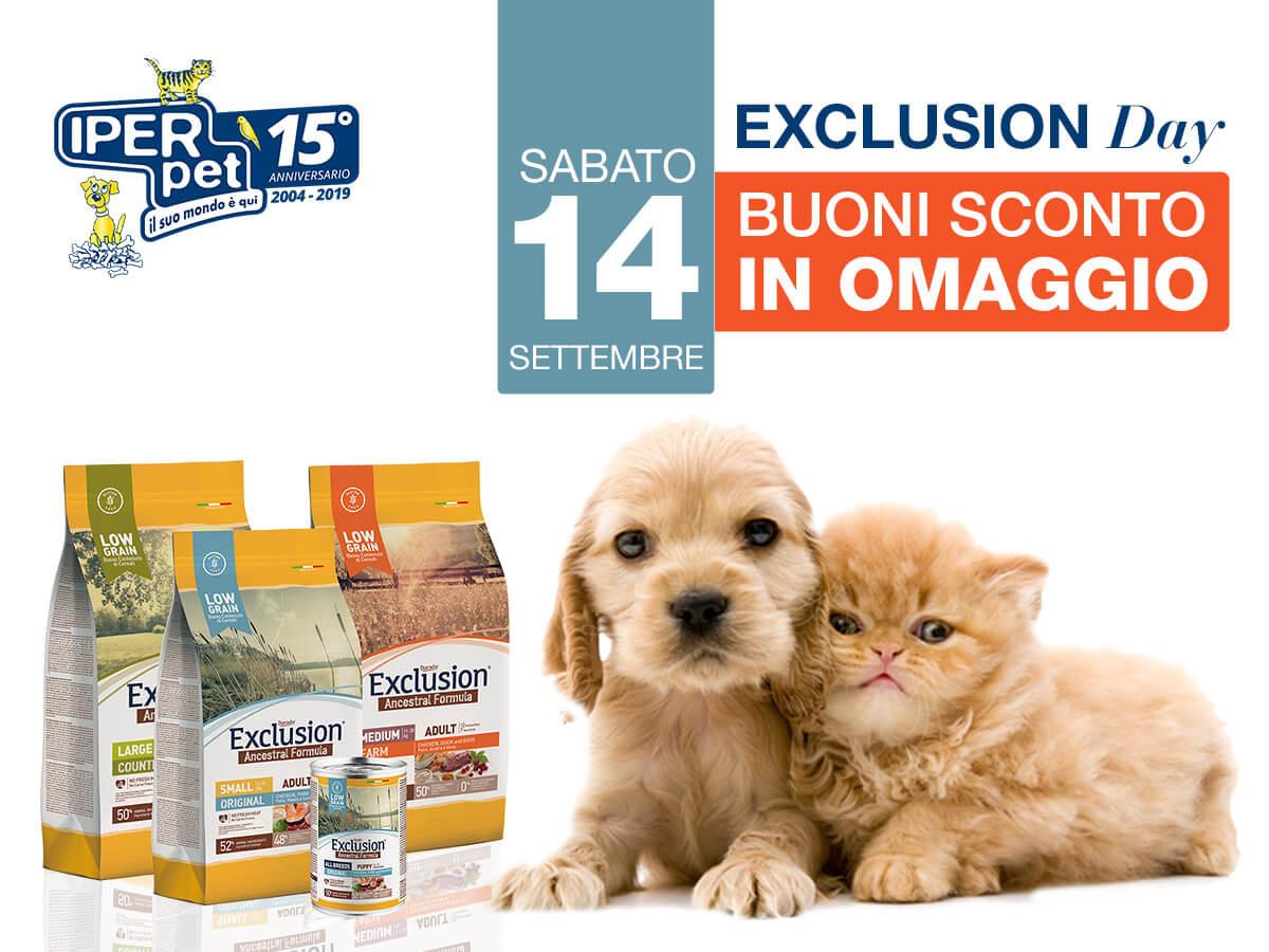 Exclusion Day Sabato 14 Settembre da Iper Pet negozio per animali Reggio Calabria
