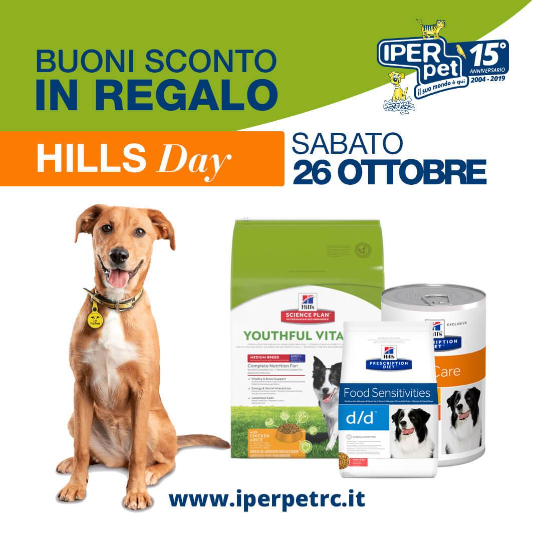 Sabato 26 Ottobre Hill's day presso Iper Pet negozio per animali Reggio Calabria