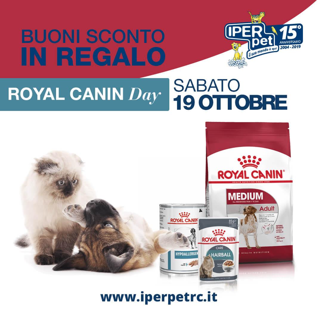 Sabato 19 Ottobre giornata promozionale Royal Canin presso Iper Pet negozio per animali Reggio Calabria