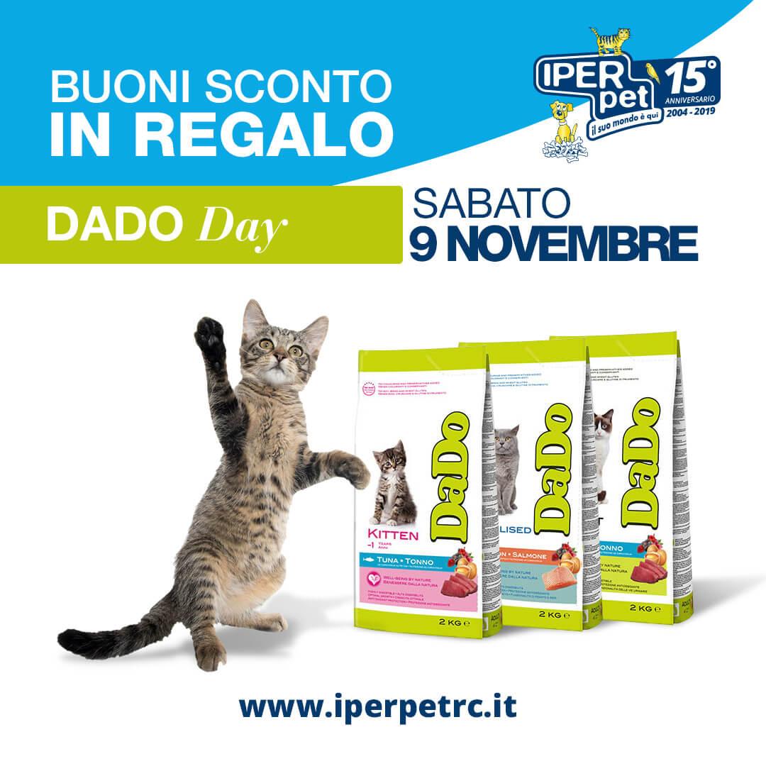 Sabato 9 Novembre Dado Day presso Iper Pet negozio per animali Reggio Calabria