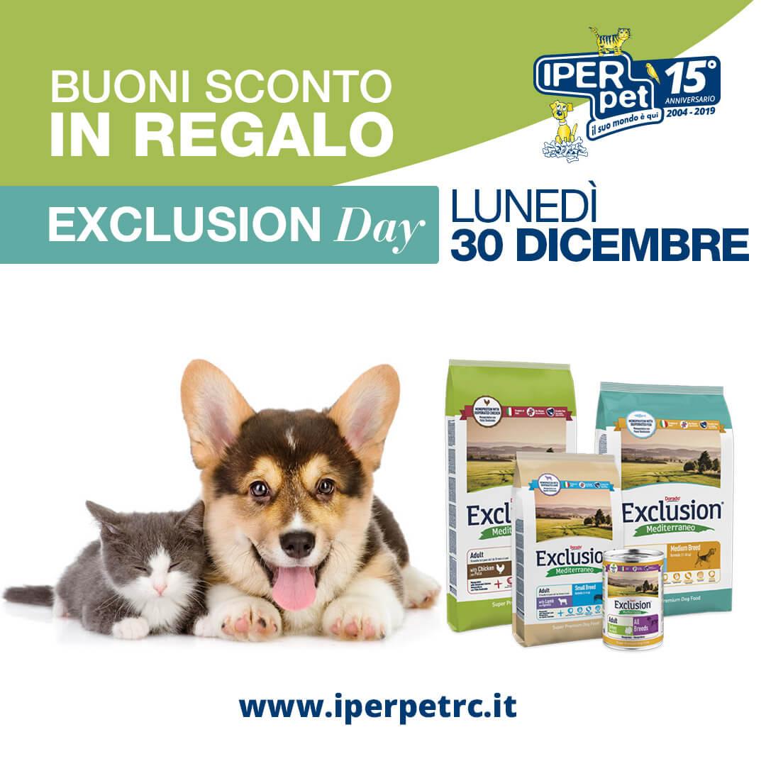 Lunedì 30 dicembre exclusion day da Iper Pet negozio per animali Reggio Calabria