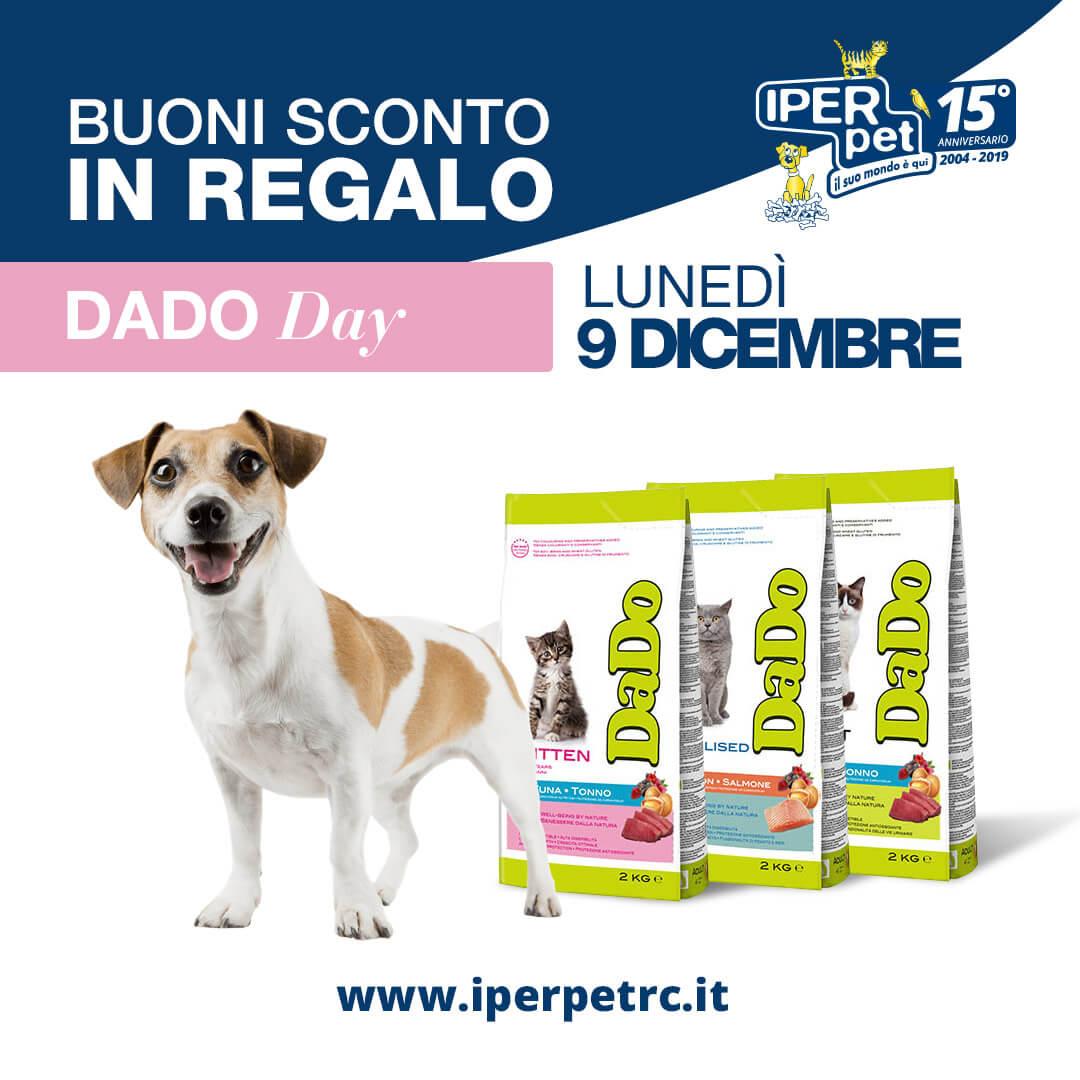lunedì 9 dicembre dado day presso iper pet negozio per animali reggio calabria