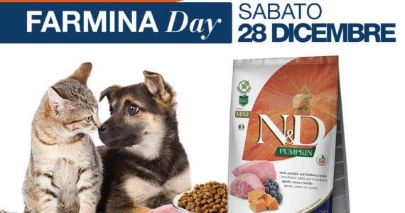 Sabato 28 dicembre Farmina Day presso Iper Pet negozio per animali Reggio Calabria