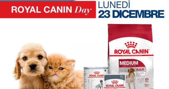 Lunedì 23 Dicembre ti aspettiamo presso il nostro negozio per animali in Via Carso, 3 per una giornata promozionale in compagnia di Royal Canin.