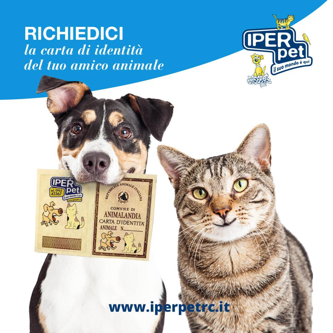 Carta d'identità per cane e gatto da Iper Pet Negozio per animali Reggio Calabria