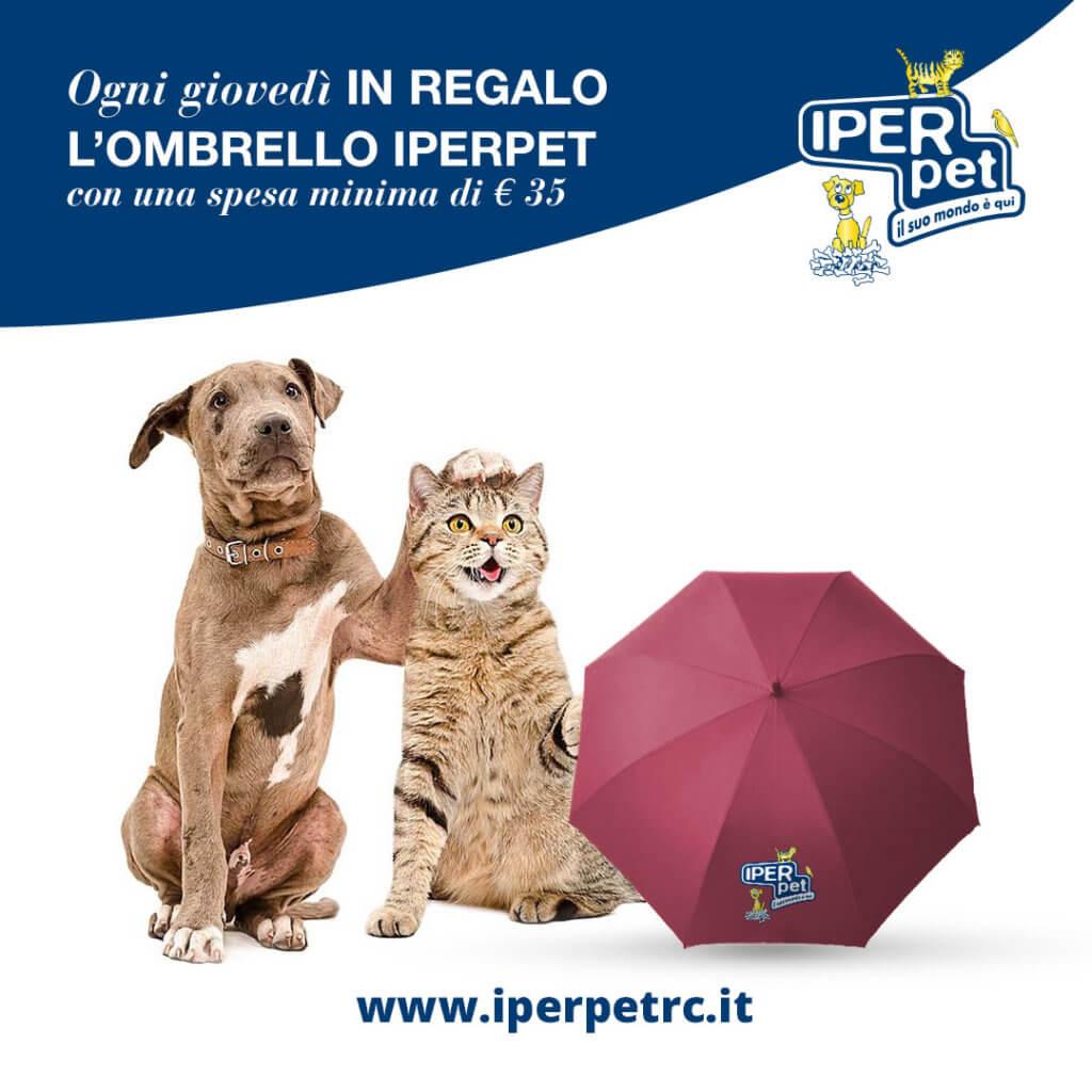 ogni giovedì in regalo l'ombrello iper pet