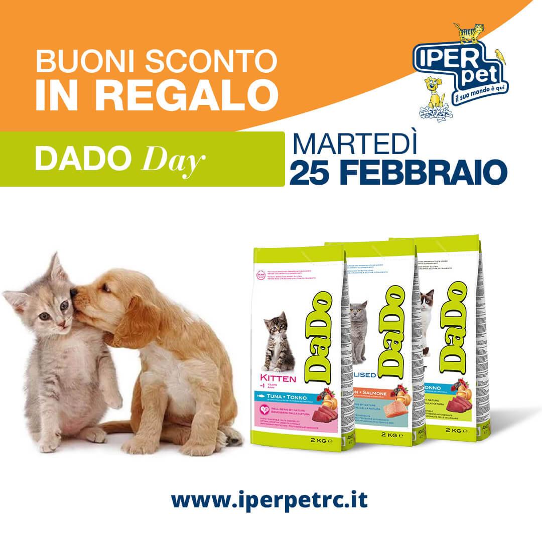 25 Febbraio Dado Day da Iper Pet negozio per animali Reggio Calabria