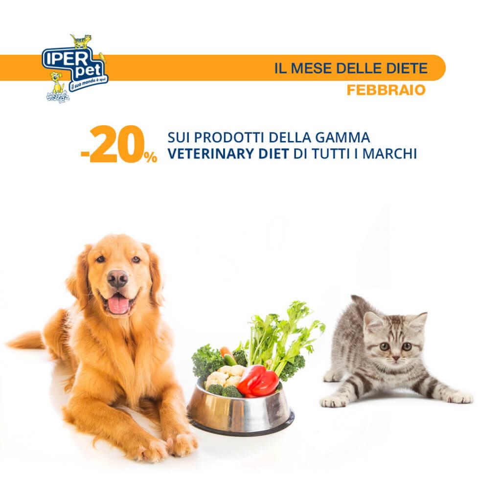 Da Iper Pet febbraio è il mese delle diete. 20% di sconto.
