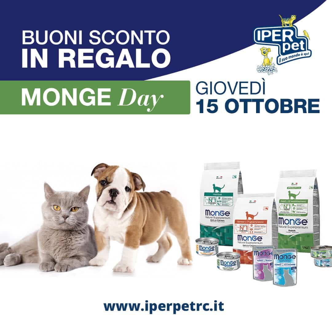 Giovedì 15 Ottobre Monge Day presso il punto vendita Iper Pet di Reggio Calabria