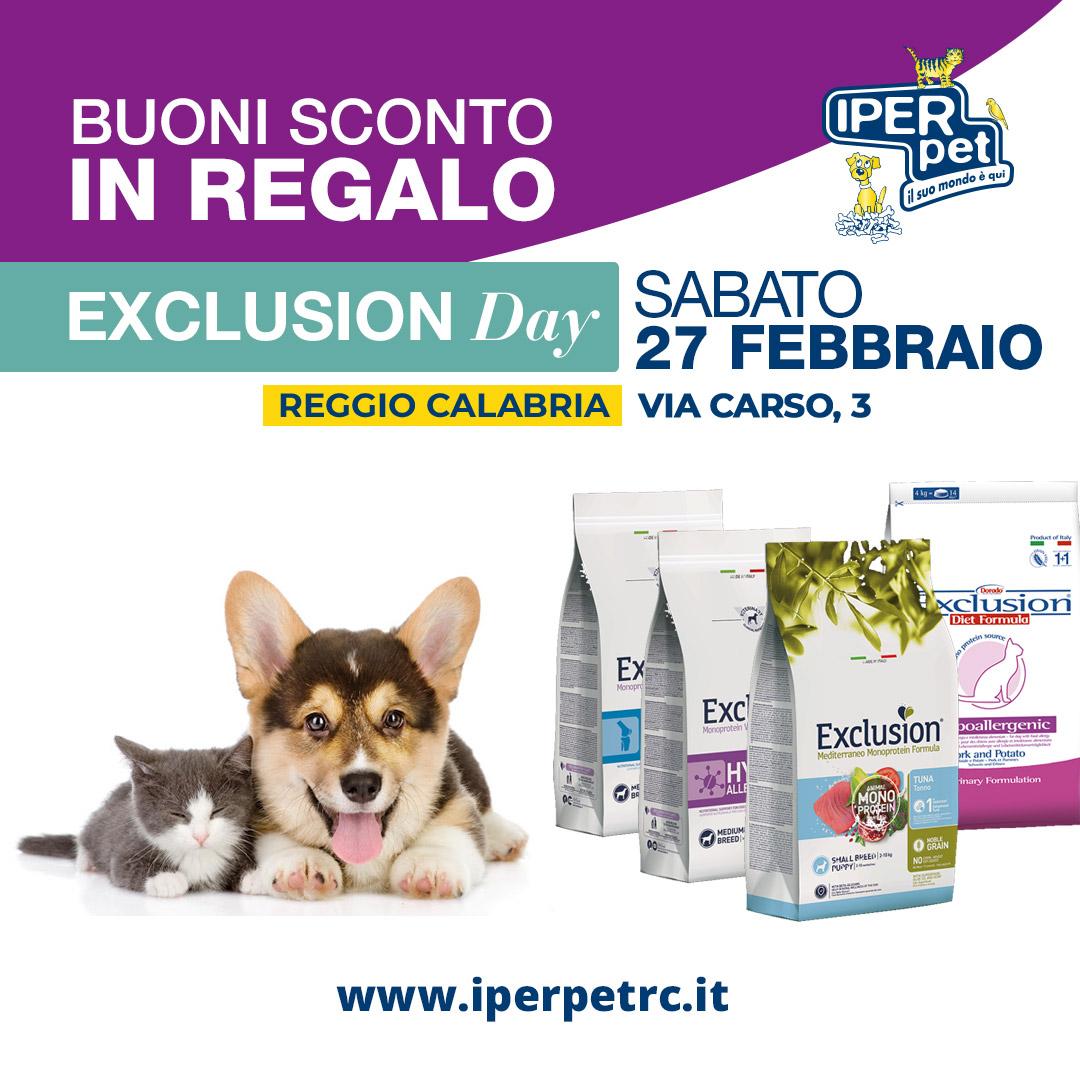 iper pet exclusion day 27 febbraio 2021